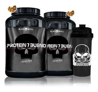 Combo 2x Protein 7 Blend 837g + Coqueteleira - Black Skull
