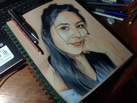 Retrato O Dibujo Personalizado, Tamaño Carta.