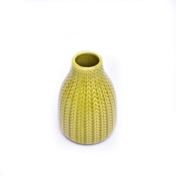 Jarron Vasija Florero Modelo Bajo Ceramica Deco Oferta