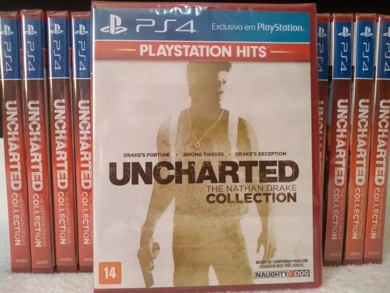 03 Jogos - The Nathan Drake Collection (contem Uncharted 1 2 E 3) - Dublado Portugues Midia Fisica Original Lacrado Ps4