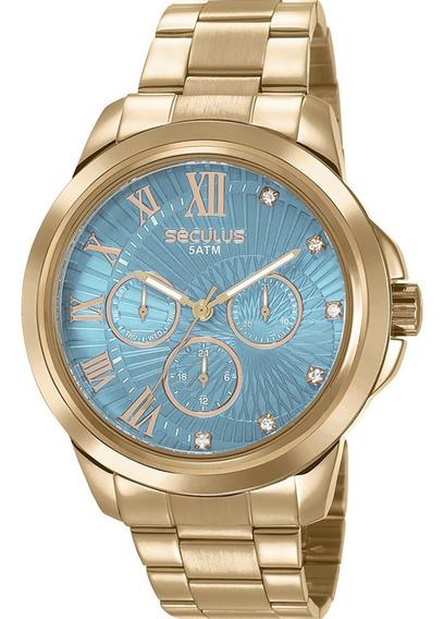 Relógio Seculus Feminino Original Garantia Barato Com Nota