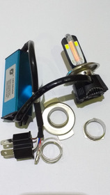 Lampada Farol H4 4 Super Leds Motos/carros 40w