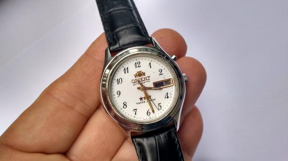 Relógio Orient Automático Antigo Branco Perfeito