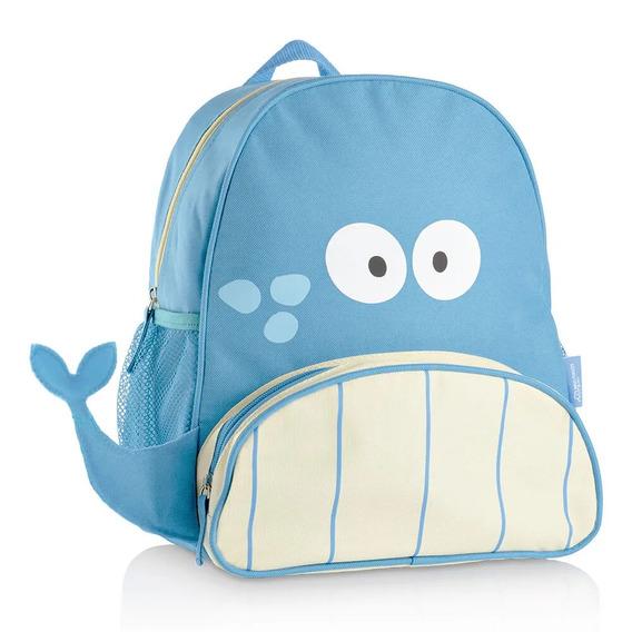 Mochila Escolar Infantil Little Buddys Baleia Blu Multikids