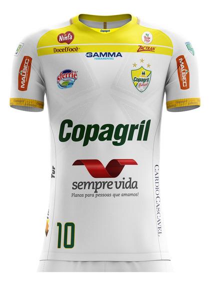 Camiseta Camisa Infantil Masculina Oficial Copagril Futsal