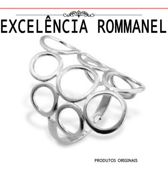 Anel Rommanel Circulos Vazados Rhodium 110237