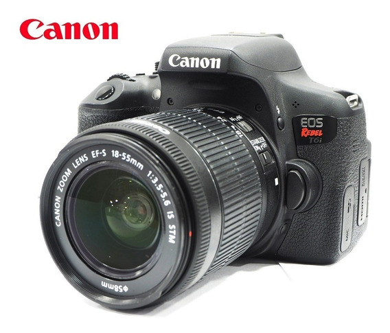 Câmera Canon Eos T6i 24mp Vídeo Full Hd Kit C/ Zoom 18-55mm