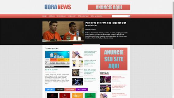Portal De Notícia Em Php Horanews 1.0 + Instalação Grátis