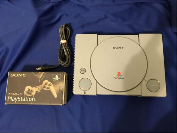 Playstation 1 Scph-1001 - C/ Controle Na Caixa - Modelo Raro
