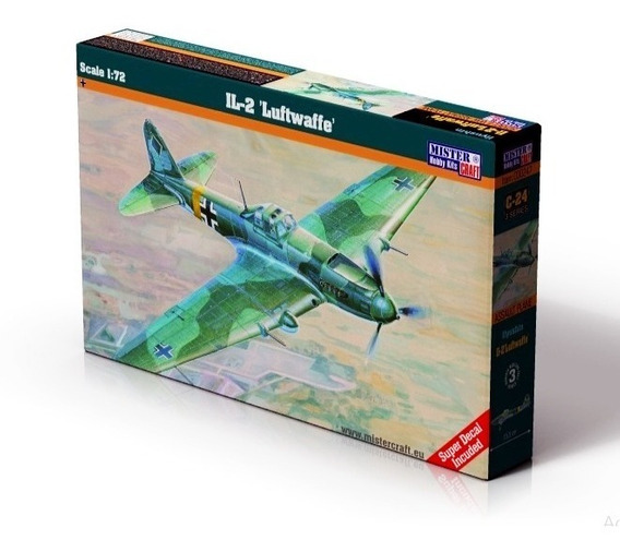 Ilyushin Il-2 Luftwaffe Escala 1/72 Mistercraft C24