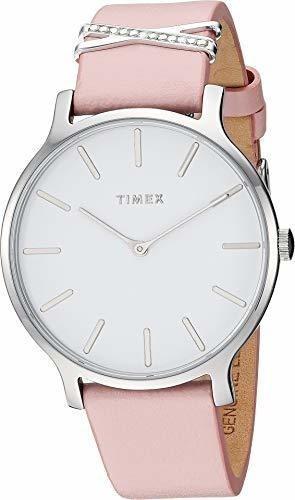 Imagen 1 de 1 de Timex Correa De Piel Para Mujer 1496 En