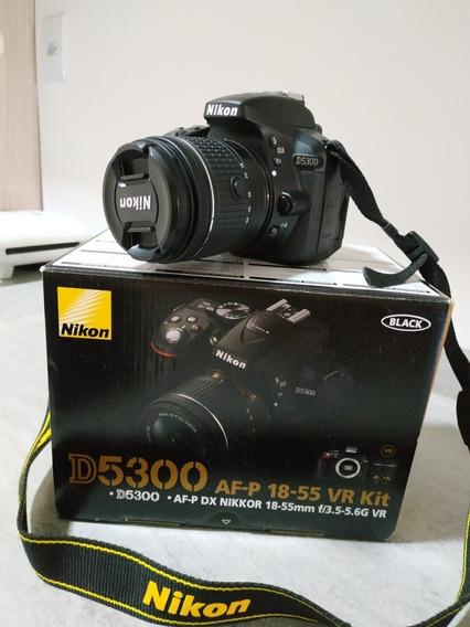 Câmera Dslr Nikon D5300 + Lente 18-55mm + Catão De 32gb C10