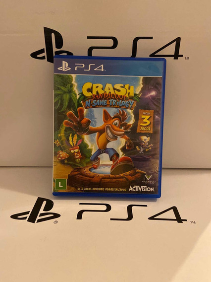 Jogo Crash Bandicoot Trilogia Playstation 4 Ps4 Midia Fisica