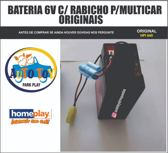 Multicar 6v Hpi 640 - Homeplay - Bateria 6v Original