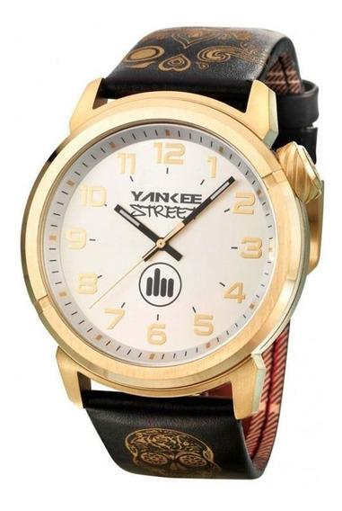 Relógio Yankee Street Feminino - Ys30443b - Preto/dourado