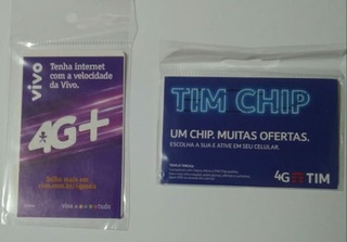 Kit Com 20 Chips. Vai 10 Chips Vivo E 10 Chips Tim.