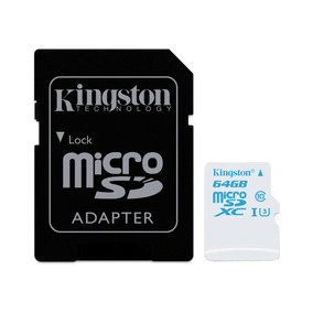 Cartão Memória Kingston Microsd 64gb Classe 10 Com Adaptador