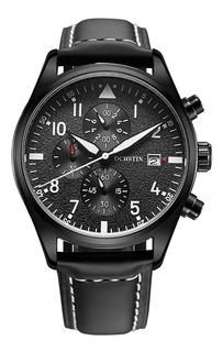 Reloj Cuarzo Ochstin Cronografo Cuero Original Exclusivo