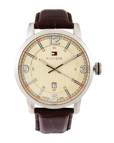 Tommy Hilfiger - 1710343 Silver-tone & Brown