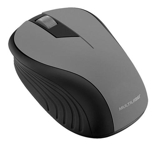 Mouse sem fio Multilaser  MO213 preto-grafite