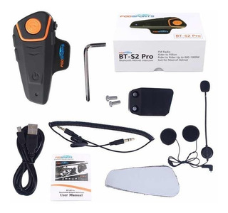 Bt-s2 Pro Intercomunicador Casco Motocicleta Bluetooth Fm