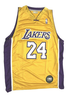 Musculosa Basket Nba Oficial Lakers Amarilla The Dark King