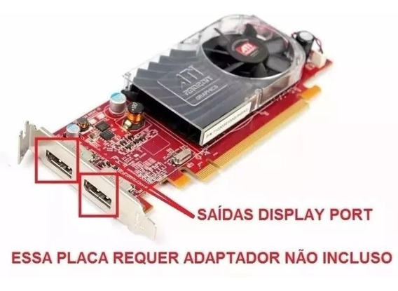 Placa De Video Pci-e Ati Radeon Hd 3470 256 Mb Low Profile