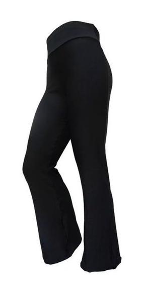 Plus Size Calça Flare Bailarina Suplex Cintura Alta 48 A 66