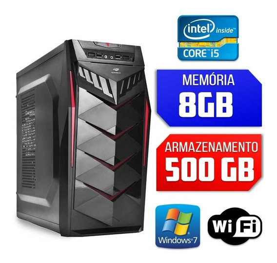 Computador Intel Core I5, 8gb, 500gb, Windows 7