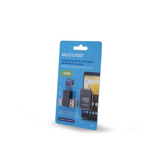 Adaptador Dual Para Celular E Usb Com Sd 16gb Classe 10