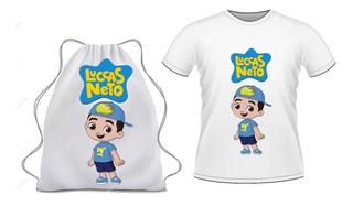 Kite Camiseta + Mochilinha Luccas Neto