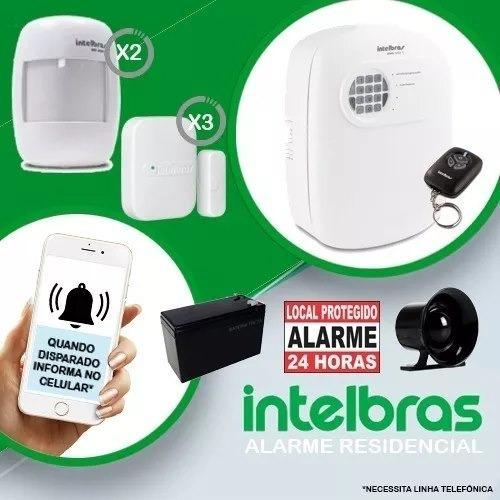 Alarme Intelbras Anm 3004 St Completo Bateria Sensor