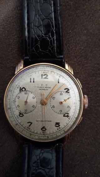 Relógio Landerom Chonographe De Ouro