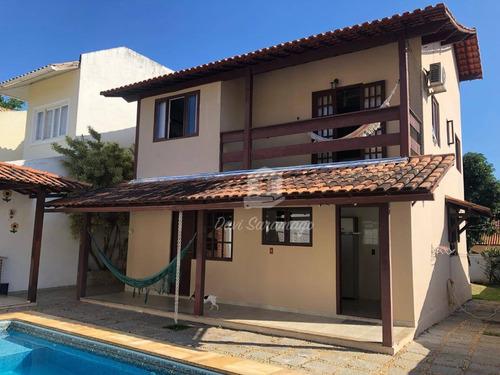 Linda Casa Em Condomínio, Terreno Inteiro, 5 Quartos E Lazer Completo! - Ca0280