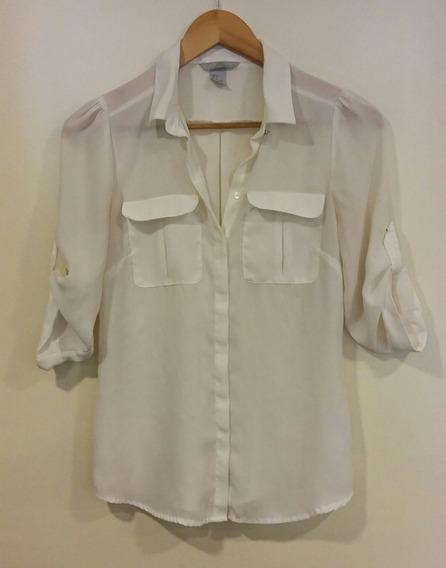Camisa Crema H&m Talle 4/xs