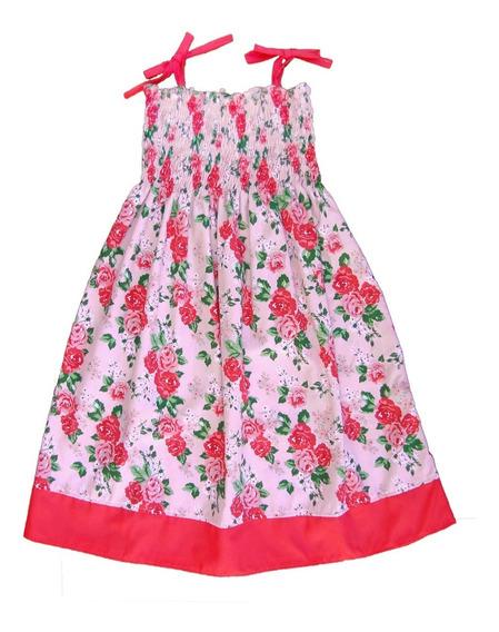 Vestido Solero Floreado Para Nena T. 2 Al 10