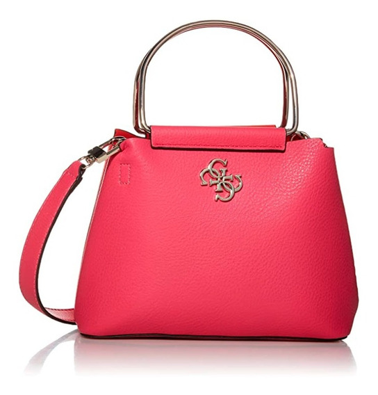Bolsa Guess Kim Mini Top Zip Original Duo Color Poliuretano