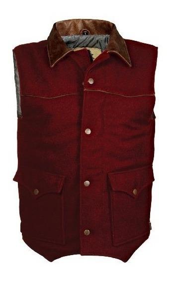 Chaleco De Lana Lariat Para Hombre Sts Ranchwear (rojo Carme