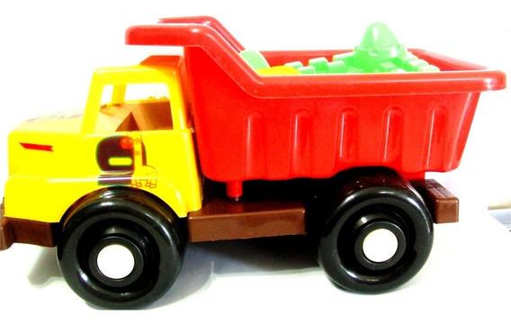 Camión Plástico Con Accesorios Playa Bebes Niño Somos Tienda