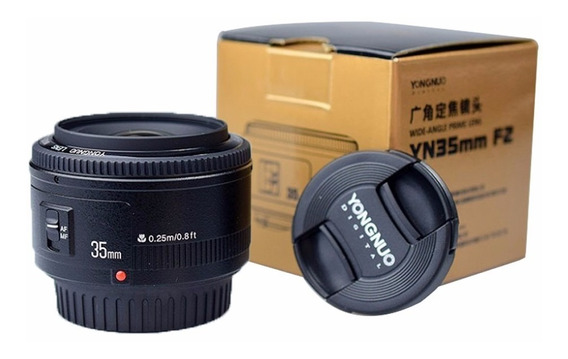 Lente Yongnuo Yn 35mm F2 Canon 70d T6i T5i T5 Pronta Entrega