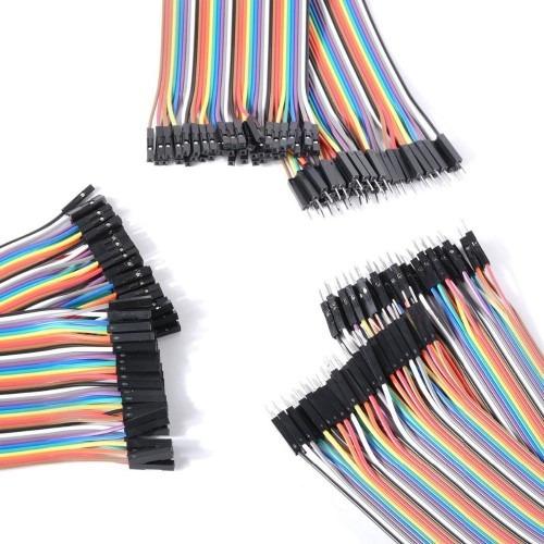 40 Cables Dupont Jumper 30cm 2.54 Mm Macho A Hembra