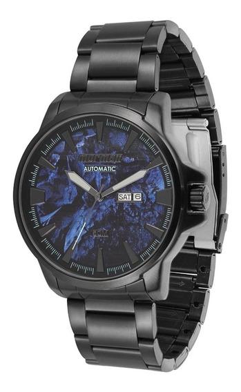 Relógio Mormaii Automático Preto Mo8205ac/4p - Fundo Vidro