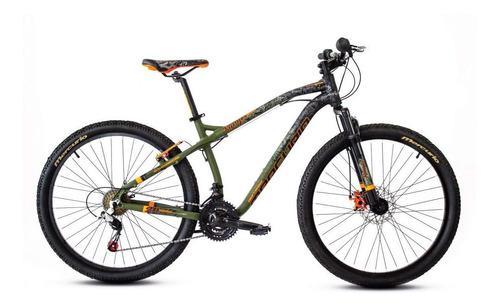 Imagen 1 de 2 de Mountain bike Mercurio MTB Recreación Ranger  2020 R26 21v freno v-brakes cambios Shimano color verde militar/negro