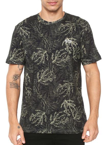 Camiseta Lost Masculina Coral Camo Verde