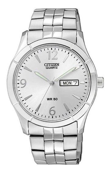 Reloj Hombre Citizen Bk3830-51a Acero Cuarzo Linea Caballero