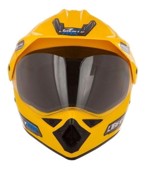 Capacete para moto cross Pro Tork Liberty MX Pro Vision amarelo L