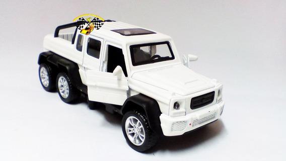 Miniatura Mercedes-benz G65 Amg 6x6 Trucado Branco 1:32