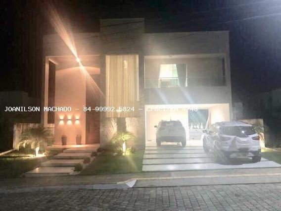 Casa Em Condomínio Para Venda Em Natal, Ponta Negra - Condomínio Vila Dos Lagos, 4 Dormitórios, 3 Suítes, 5 Banheiros, 4 Vagas - Cas0999-vila Dos Lagos