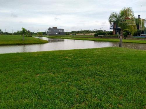 Imagem 1 de 30 de Terreno Molhado No Ilhas Park Eldorado, Lote Molhado, Tem Os Fundos E A Lateral Leste, Voltadas Para O Lago. - Te0209