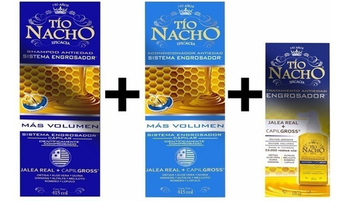 Tio Nacho Engrosador Kit: Shampoo, Acodn - mL a $34